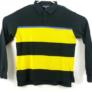 Vtg Polo Sport Ralph Lauren Mens Colorblock L/S
